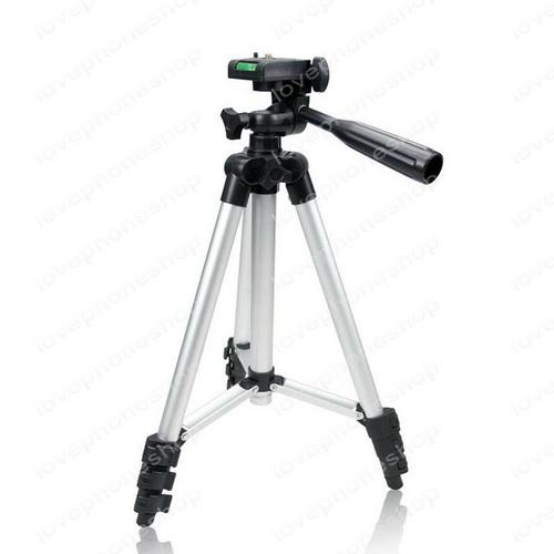 ขาตั้งกล้อง Tripod รุ่น TF-3110 (Sliver) แถมฟรีหัวต่อสำหรับมือถือ ส่งฟรี....