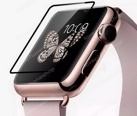 ฟิล์มกระจก 9H Perfect Glass แบบใสขอบดำ for Apple Watch 42mm. (รองรับ Series1/2/3) ส่งฟรี!!!