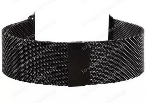 สายนาฬิกา Apple Watch Stainless Steel Mesh Milanese Loop สีดำ Series1/2/3/4 - 42,44 mm. (ส่งฟรี)