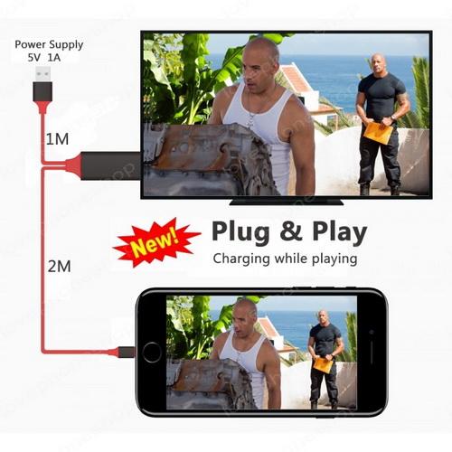 Lightning to HDMI HDTV Cable for iPhone iPad  ส่งฟรี!!