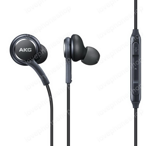 หูฟัง แท้ Samsung แบบ Galaxy S8 Earphones Tuned By AKG สีดำ สายถักมาพร้อมปุ่มปรับเสียง ส่งฟรี!!