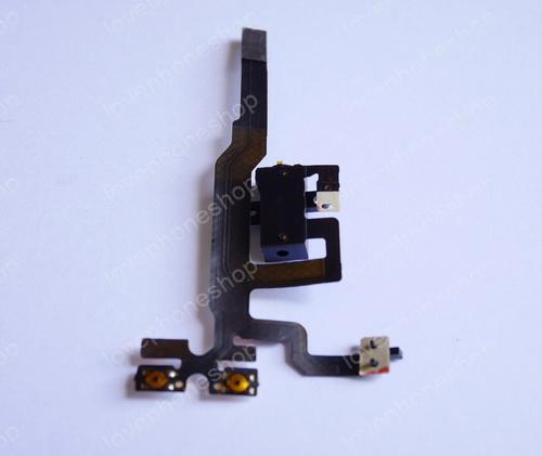 ชุดแพร สมอทอค สวิทช์ข้าง iPhone 4S สีดำ