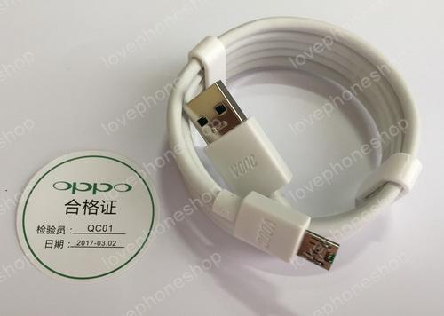 สายชาร์ต ของแท้!! VOCC USB Cable OPPO   ( สีขาว ) ส่งฟรี!!