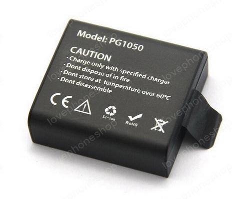 แบตเตอรี่ Action Camera PG1050 For Remex SD-02,SJCAM,SJ4000,SJ5000,SJ6000,SJ800-1050mah ส่งฟรี!