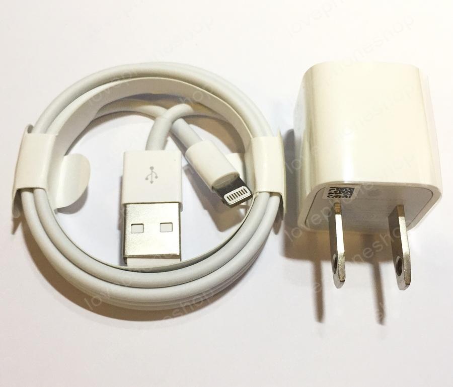 หัวชาร์ต+สายชาร์จ แท้ สำหรับ iPhone 7/7Plus, 6/6Plus 5/5S และ Ipad (Lightning to USB Cable) ส่งฟรี..