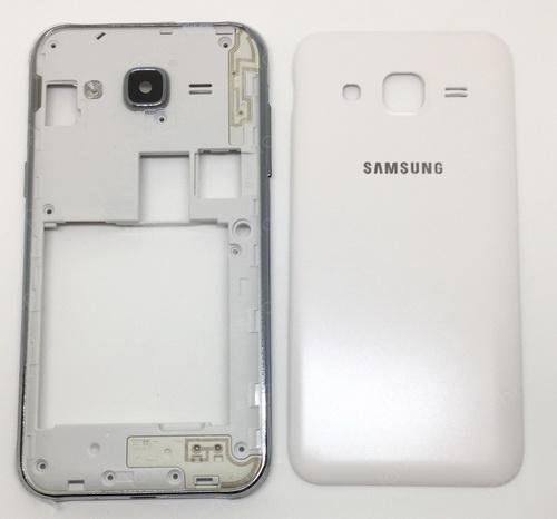 ชุดเคสกลางและฝาหลัง Samsung Galaxy J2 (J200) สีขาว (Original Genuine Part) ส่งฟรี!