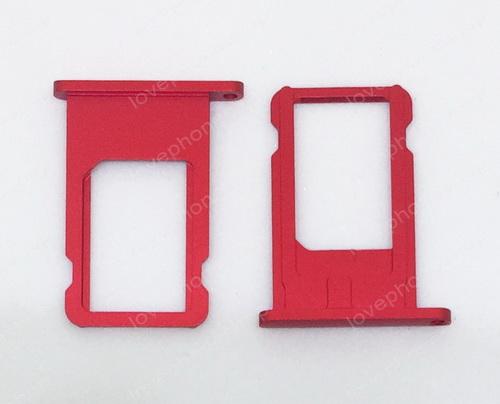 ถาดใส่ซิม Sim Card Tray Original Genuine สำหรับ iPhone 6Plus สีแดง (ส่งฟรี)