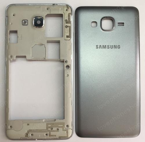 ชุดเคสกลางและฝาหลัง Samsung Galaxy Grand Prime (G530) สีเทาดำ (Original Genuine Part) ส่งฟรี!