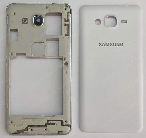 ชุดเคสกลางและฝาหลัง Samsung Galaxy Grand Prime (G530) สีขาว (Original Genuine Part) ส่งฟรี!