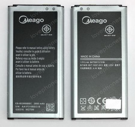 แบตเตอรี่ มอก. Meago สำหรับ Samsung Galaxy S5(I9600) -  EB-BG900BBC (ส่งฟรี)