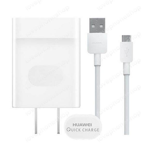 หัวชาร์จและสายชาร์จ แท้ HUAWEI (Adapter + Data Cable Quick Charge 2.0)  ส่งฟรี!!
