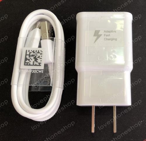 หัวชาร์ตแท้!! Adaptive Fast Charging SAMSUNG 5V.2A./9V.1.67A.+ สาย Micro USB Type-C แท้!! (ส่งฟรี)