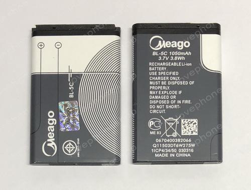 แบตเตอรี่ มอก. Meago สำหรับ Nokia รหัส BL-5C (ส่งฟรี)