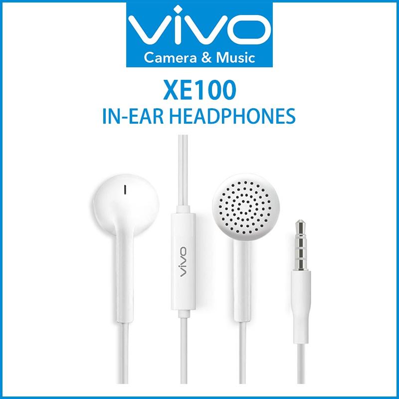 หูฟัง VIVO แท้!! Headphones Hi-Fi รุ่น XE100 ( สีขาว ) ส่งฟรี!!
