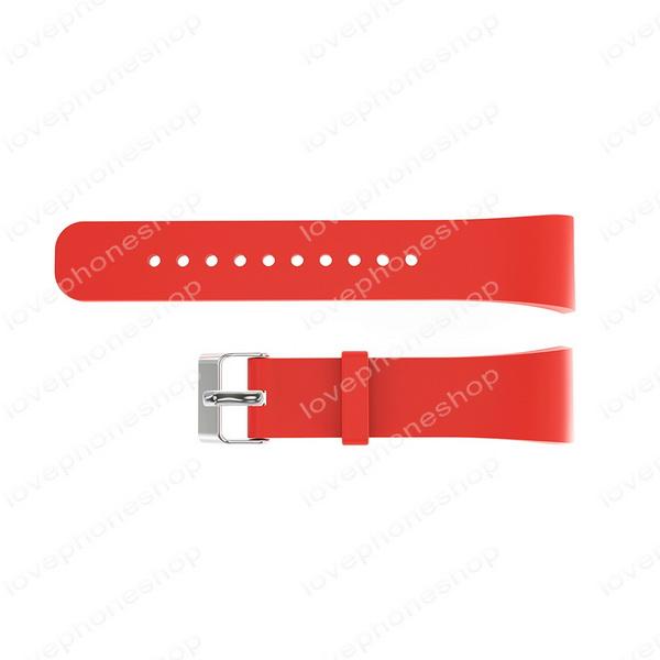 สายนาฬิกา Samsung Gear Fit2, Fit2Pro (SM-R360,R365,R366) เนื้อSilicon ล็อกแบบเข็มขัด สีแดง ส่งฟรี!!