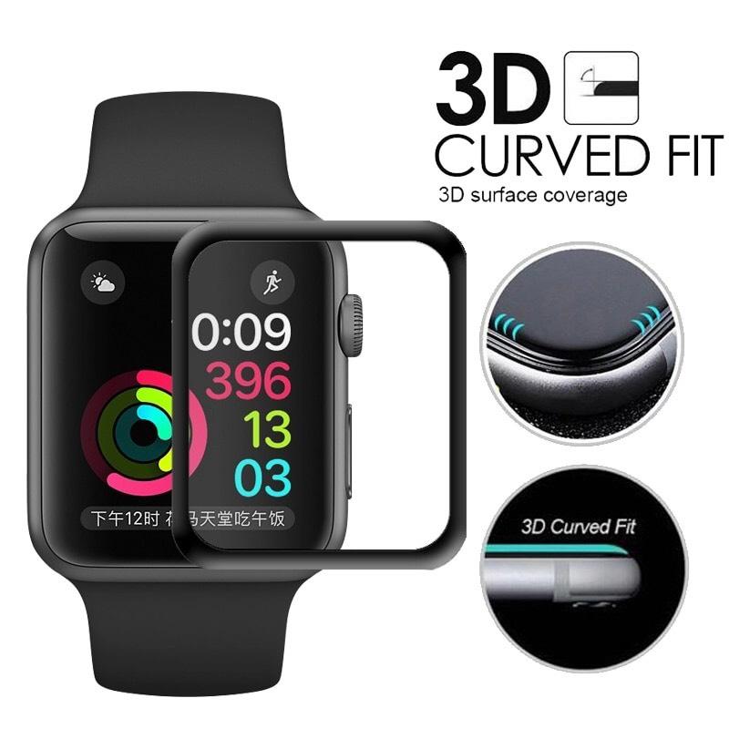 ฟิล์มกระจก 9H 3D Curve Fit แท้ติดง่าย ลงโค้งเข้ารูป Apple Wacth 42mm. (รองรับ Series1/2/3) ส่งฟรี!!!