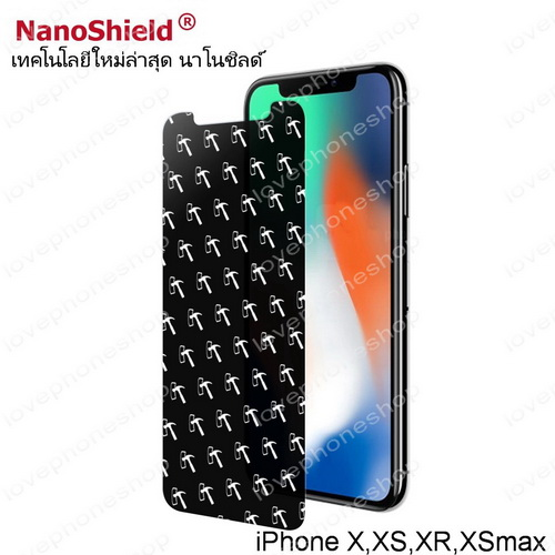 ฟิลม์กันรอย iPhone XR Nanoshield Hammer Anti Shock Screen Protector เว้นขอบ กันนํ้า ส่งฟรี!!!