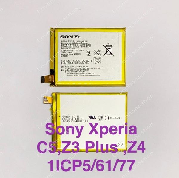 แบตเตอรี่แท้ Sony Xperia C5,,Z3 Plus ,Z4 รหัส AGPB015-A001,1ICP5/61/77,LIS1579ERPC ส่งฟรี!!
