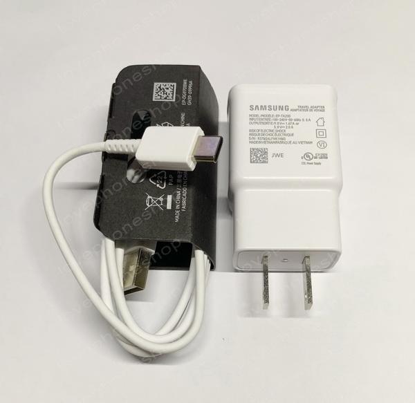 หัวชาร์ตแท้!! SAMSUNG S10,S10+ Fast Charging (หัวชาร์จ + สาย USB Type-C) สีขาว ส่งฟรี..