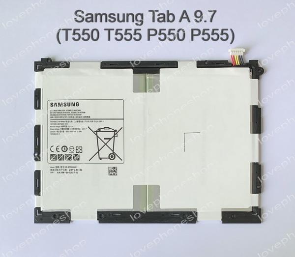 แบตเตอรี่ แท้ Samsung GALAXY Tab A 9.7 (T550 T555 P550 P555)/EB-BT550ABE ความจุ 6000mAh (ส่งฟรี)