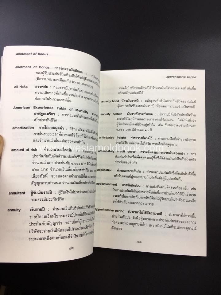 พจนานุกรมศัพท์ประกันภัย อังกฤษ - ไทย  ฉบับราชบัณฑิตยสถาน 3