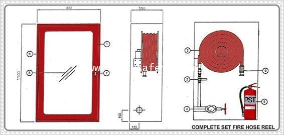 ตู้ดับเพลิงพร้อมอุปกรณ์ มาตรฐาน BS/EN :Hose Reel