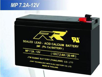 RRแบตเตอรี่  12V7.2Ah
