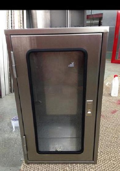 ตู้ใส่ดับเพลิงแสตนเลส Stainless steel fire extinguisher cabinet
