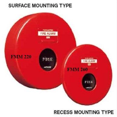 Manual Fire Alarm Box FMM 260 (แบบฝังผนัง)