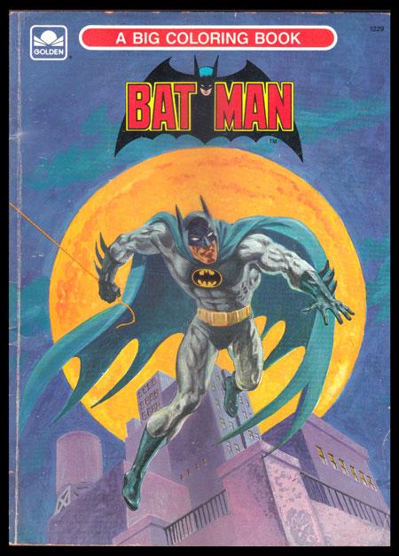 สมุดภาพฝึกระบายสี  BAT  MAN