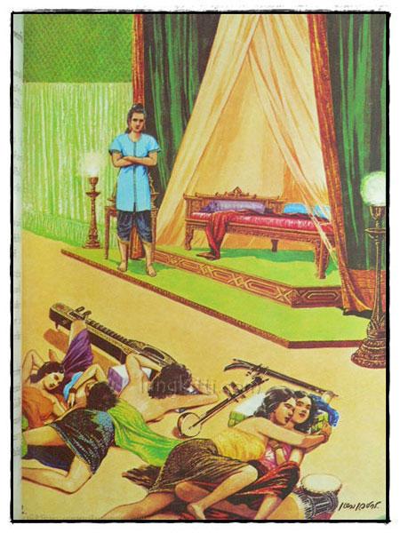 สมุดภาพพระพุทธประวัติ  เหม เวชกร เขียนภาพประกอบเรื่อง 7