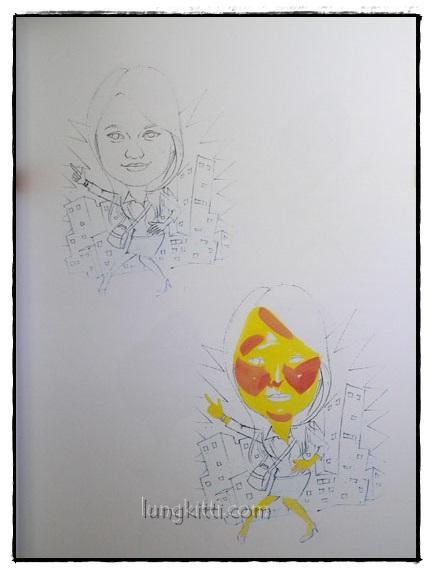 คู่มือการเขียนภาพล้อเลียนด้วยสีโปสเตอร์ 5