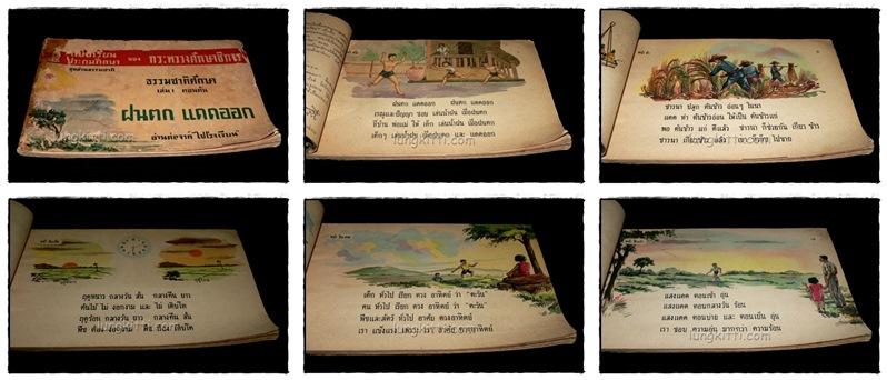 """คู่มือชั้นประถมปีที่หนึ่ง เล่ม 1 ตอนต้น เรื่อง """"ฝนตก แดดออก"""" ภาพผนัง+ชุดอ่านธรรมชาติ (เรณู+ปัญญา) 4"""