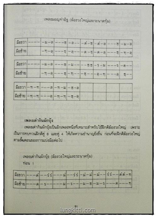 ดนตรีไทย โน้ตและวิธีฝึก / สมพงษ์ กาญจนผลิน 8