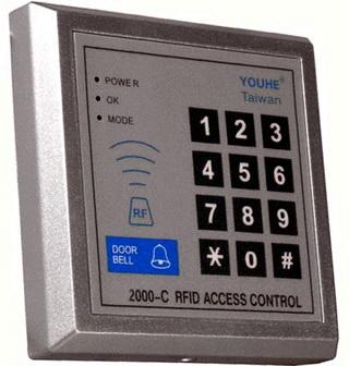เครื่องทาบบัตร G2000 คีย์การ์ดเปิด-ปิดประตูด้วยบัตร พร้อมอุปกรณ์ประตู 1 ชุด(ฟรีค่าติดตั้ง) 1