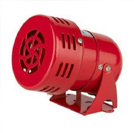 MINI SIREN AC 220V ส่งเสียงหวอเตือนภัย สีแดง