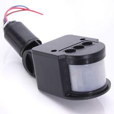PIR Infrared Motion Sensor LED Light 6 -10 M Color: Black/Gray
