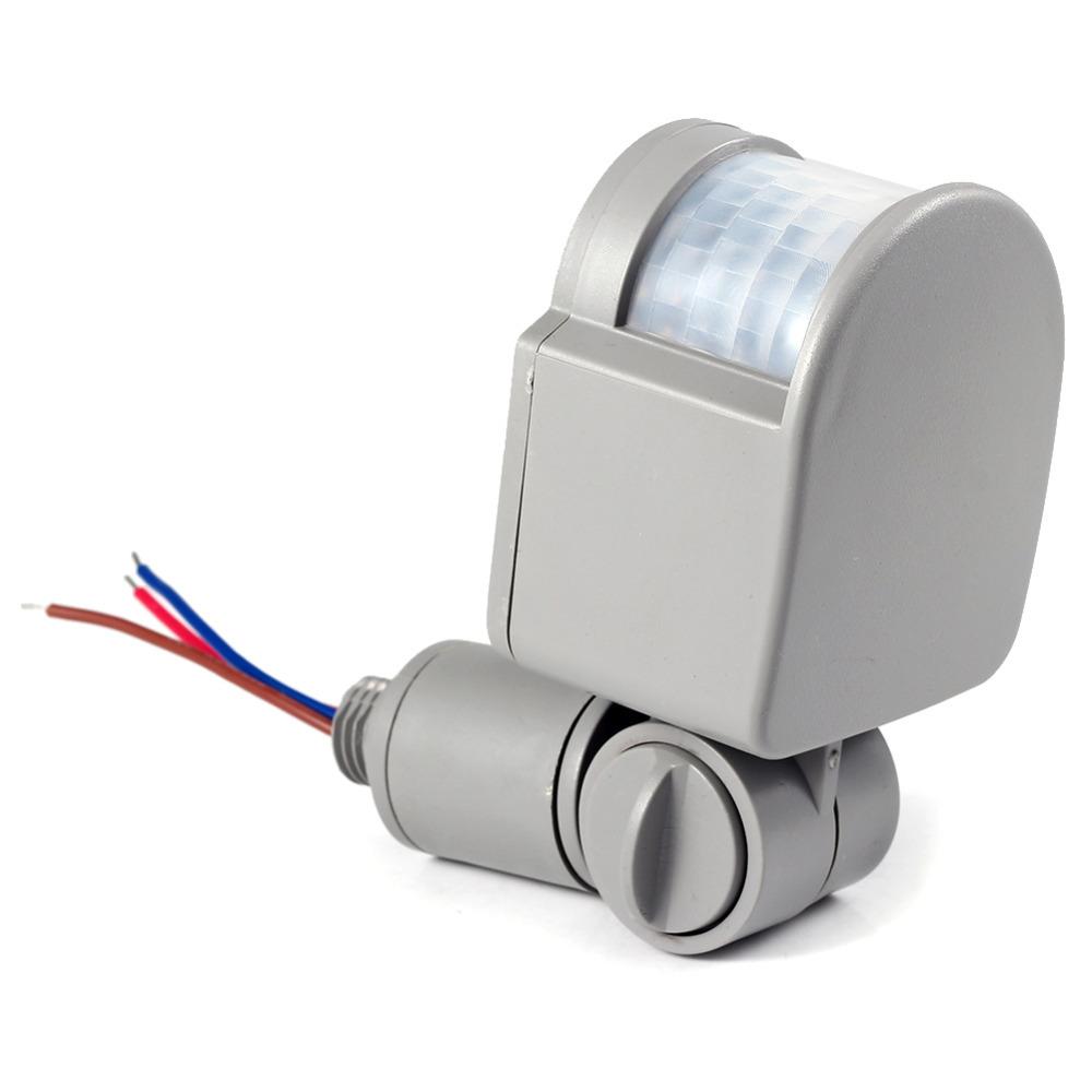 PIR Infrared Motion Sensor LED Light 6 -10 M Color: Black/Gray 2