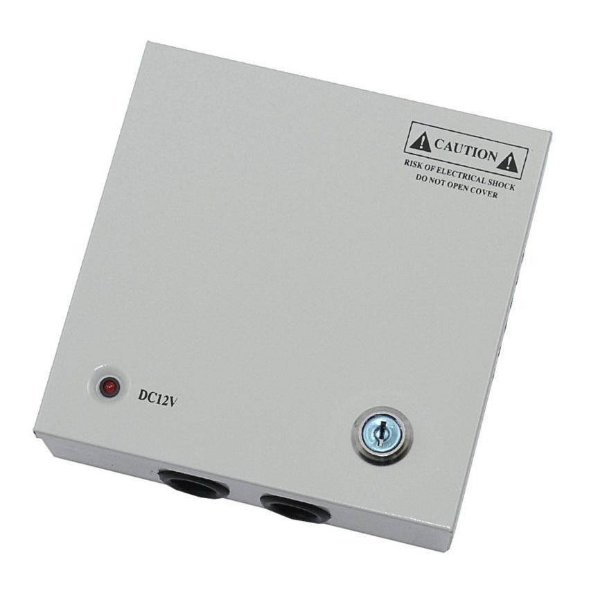 Power Supply สำหรับกล้องวงจรปิด 4 ตัว เพื่อยืดอายุการใช้งานของกล้องวงจรปิด ฯลฯ