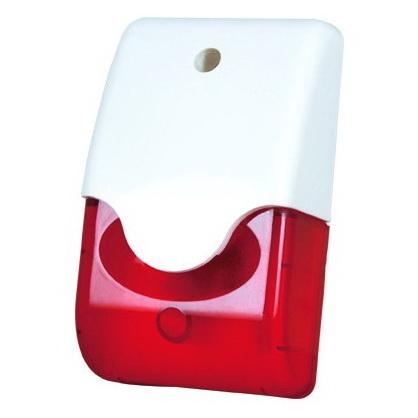 Mini siren with half strobe 12VDC 110dB ABS Housing - Red 2