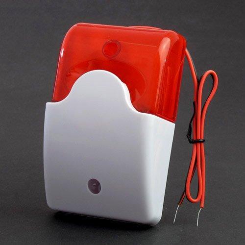 Mini siren with half strobe 12VDC 110dB ABS Housing - Red 3