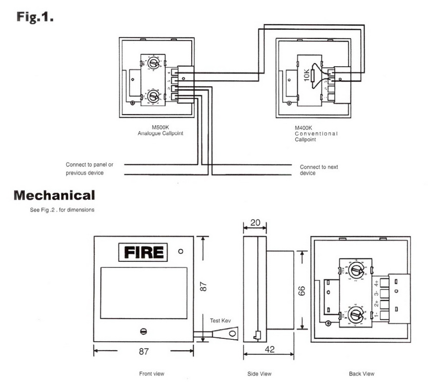 FIRE Break Glass Resettable Manual 5