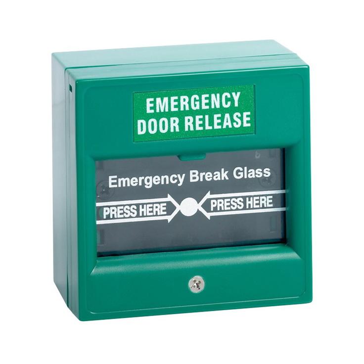 กล่องไฟอราม Emergency Door Releasequot; Break Glass GREEN ขายปลีก/ ขายส่ง 1