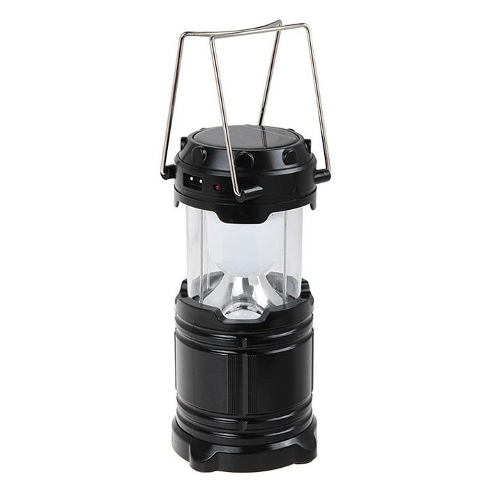 ตะเกียงโคมไฟ ไฟฉาย พลังแสงอาทิตย์ 6LED สีดำ, สีทอง 1