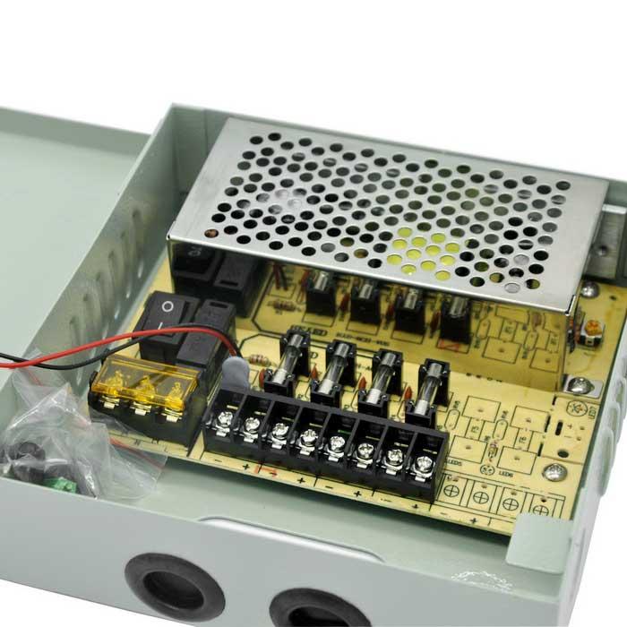 Power Supply สำหรับกล้องวงจรปิด 4 ตัว เพื่อยืดอายุการใช้งานของกล้องวงจรปิด ฯลฯ 3