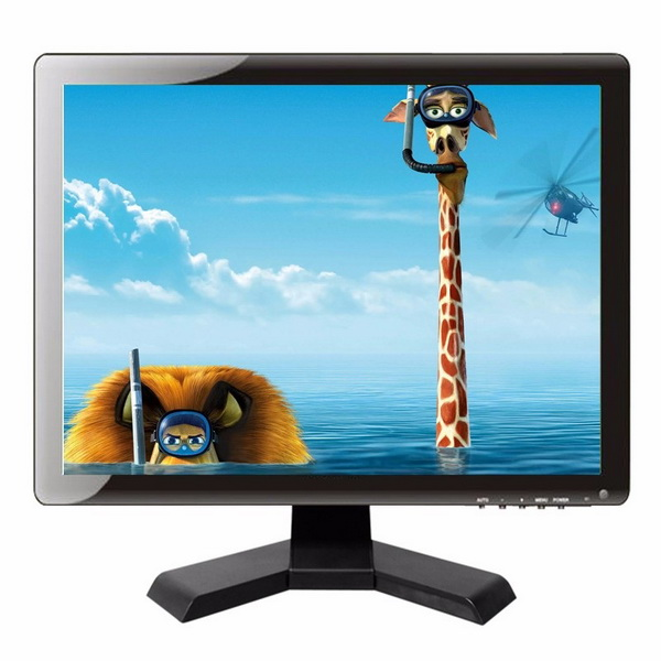 LCD Monitor 15 inch AV / BNC / PC / TV / Audio / HDMI / USB   พร้อมอุปกรณ์ รับประกัน 1ปี 1