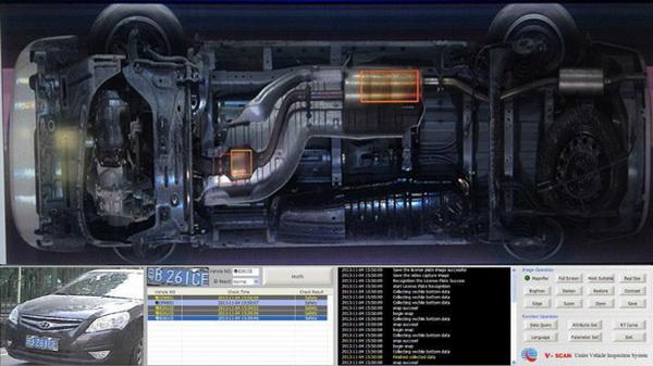 VSCN3300 ระบบสแกนภาพใต้ท้องรถแบบฝังใต้พื้น  under vehicle inspection system 3
