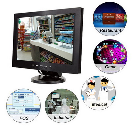 TFT 12 Inch LCD Monitor with AV / VGA / HDMI / USB Input รับประกัน 1 ปี 2