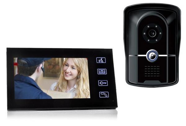 Video Door Phone 7 ich HD TFT-LCD Screen แบบเดินสาย รับประกัน