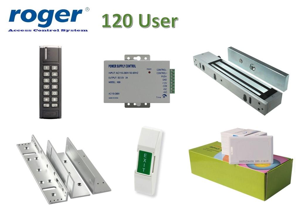Roger Access Control Outdoor พร้อมอุปกรณ์ประตู ชุดโปรโมชั่น 1
